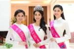 Tân Hoa hậu và hai Á hậu Việt Nam 2016 duyên dáng trong tà áo dài trắng