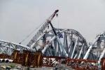 Tai nạn chết người trong lúc thi công cầu Ghềnh