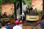 Hiện trường sạt lở đất kinh hoàng vùi lấp quán internet ở Hà Giang
