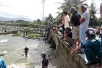 Sau bão, dân Đà Nẵng đổ ra biển bắt cá nước ngọt