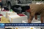 Cần Thơ: Xe tải chở hàng chục tấn cua gặp nạn, dân ùa ra 'hôi của'