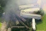 Tàu chở chất độc trật đường ray, Mỹ sơ tán cả thị trấn