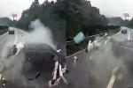 Video: Ô tô vỡ nát sau tai nạn, người đàn ông thoát chết thần kỳ