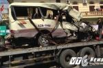Xe đi lễ chùa nổ lốp, 2 người chết tại chỗ