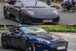 Bộ đôi siêu xe Aston Martin và Lamborghini 'hẹn hò' tại Sài Gòn