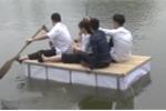 Học sinh Hưng Yên thiết kế giường cứu sinh nổi trên mặt nước
