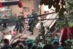 Hiện trường đổ nát vụ sập nhà 4 tầng ở Hà Nội
