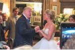 Đột ngột xuất hiện trong đám cưới, Tổng thống Trump làm đám đông phấn khích