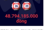 Đã xác định nơi bán vé số Vietlott trúng gần 49 tỷ đồng ngày đầu năm mới