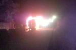 Xe khách giường nằm cháy ngùn ngụt trong đêm ở Quảng Ninh