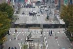 Hố tử thần khổng lồ khắc phục sau 48h ở Nhật lại bị sụt