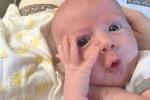Nhóc tỳ 4 tháng tuổi có gương mặt biểu cảm nhất thế giới
