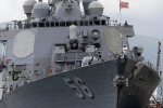 Chiến hạm tên lửa Mỹ lại đâm tàu chở dầu, bị hư hỏng mạn trái