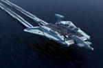 Soi chi tiết tàu sân bay nguyên tử 'Quái vật biển Caspian' thời Liên Xô