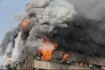 Hình ảnh đáng sợ khi tòa nhà 17 tầng ở Iran sập trong hỏa hoạn