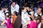 Cặp sinh đôi nhà Hồng Nhung hớn hở khi gặp con gái Đoan Trang