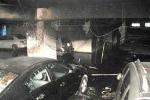 Cháy nhà để xe: Loạt xe sang cháy rụi, cứu được cúp 70