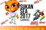 Lịch thi đấu bóng đá nam SEA Games 29 năm 2017 hôm nay mới nhất