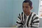 Nghi can Lê Lâm Hưng tại cơ quan công an - Ảnh: C.A.