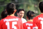 Tỷ phú Zaw Zaw đến động viên tuyển Myanmar trước trận gặp Việt Nam