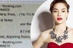 Hồ Ngọc Hà kiện khách sạn tiết lộ thông tin đặt phòng với đại gia Chu Đăng Khoa