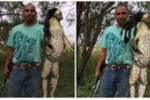 Cận cảnh 'quái vật ếch' khổng lồ to như người mới bị thợ săn Mỹ hạ gục