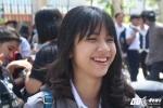 'Hot girl Olympia' cười rạng rỡ sau buổi thi môn Toán