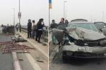 Truy tìm ô tô đâm 6 người bị thương rồi bỏ chạy trên cầu Nhật Tân