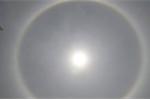 Mặt trời lạ xuất hiện trên bầu trời Nghệ An