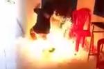 Thách đố trên facebook, nữ sinh Khánh Hòa mang xăng đi đốt trường
