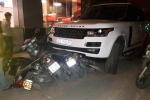 Bị truy đuổi, tên cướp xe Range Rover tông liên hoàn trên phố Thủ đô