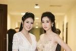 Hoa hậu Mỹ Linh kín đáo bên đàn chị Ngọc Hân gợi cảm