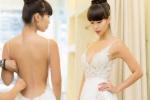 Hà Anh mặc áo cưới, khoe trọn lưng trần và thân hình nóng bỏng