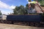 Phát hiện xe tải chở lậu gỗ quý ngang nhiên đi trên quốc lộ