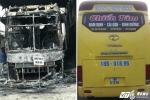 Xe khách bốc cháy sau tiếng nổ lớn trong đêm