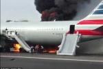Hàng trăm hành khách hoảng loạn lao khỏi máy bay bốc cháy ngùn ngụt
