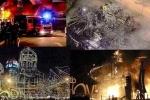 Hiện trường trơ sắt vụn sau đám cháy thiêu rụi sân khấu 'Kong: Skull Island'