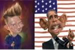 Sao Việt thích thú với tranh hí họa Tổng thống Obama, ca sĩ Đàm Vĩnh Hưng