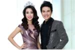 Hoa hậu Đỗ Mỹ Linh diện đầm quyến rũ bên MC Vũ Mạnh Cường