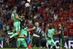 Ronaldo bật cao đánh đầu tung lưới Xứ Wales