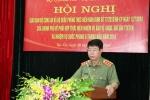 Thượng tướng Bùi Văn Nam, Ủy viên Trung ương Đảng, Thứ trưởng Bộ Công an phát biểu khai mạc
