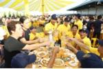Sư Tử Trắng 'chơi lớn' bằng lễ hội bia bồn lớn nhất miền Tây