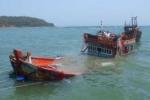 Tàu nước ngoài đâm chìm tàu cá của ngư dân Bình Định rồi bỏ chạy