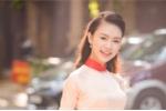 'Cô gái vàng' của Hoa hậu Việt Nam khoe sắc với áo dài do Ngọc Hân thiết kế
