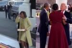 Khác biệt trong cách cư xử với vợ của Obama và Trump gây 'bão' mạng