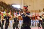 Ảnh: Chiến sĩ công an trẻ múa côn nhị khúc, bay người hạ mục tiêu