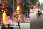 Cháy lớn bao trùm nhiều căn nhà trên phố Trần Thái Tông - Hà Nội