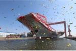 Ảnh: Tàu sân bay thứ hai của Trung Quốc trong lễ hạ thủy