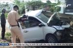 Lâm Đồng: Thanh chắn đường đâm xuyên ôtô, tài xế thoát chết thần kỳ