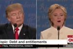 Trump chen ngang, gọi bà Clinton là 'người đàn bà xấu xa'